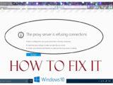 حذف تنظیمات پروکسی برای حل مشکل وصل نشدن به اینترنت