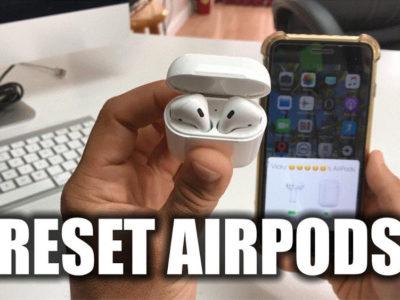 آموزش گام به گام ریستارت کردن AirPods اپل