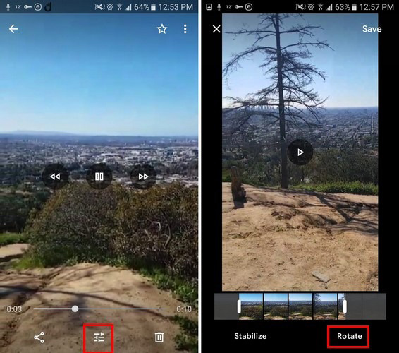 فیلم های خود را با Google Photos بچرخانید