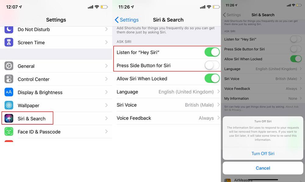 نحوه خاموش کردن سیری در دستگاه های iOS