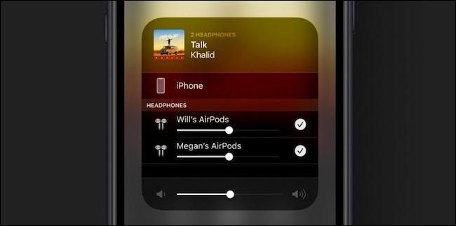 اشتراک گذاری صوتی برای AirPods