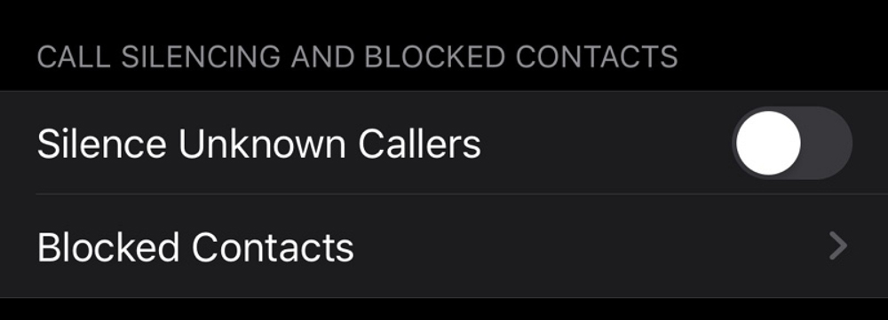 قابلیت Silence Unknown Callers در iOS13