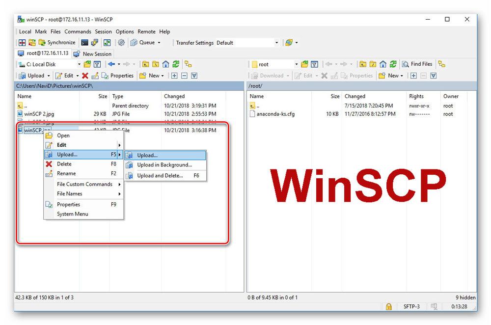 علاوه بر کلاینت FileZilla، شما می توانید از نرمافزار WinSCP نیز استفاده کنید