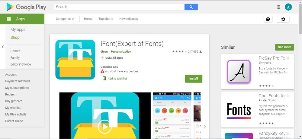 معرفی نرم افزار iFont برای گوشی های اندروید