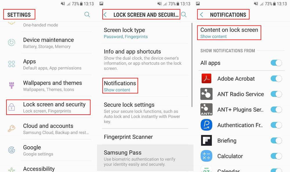 در بخش تنظیمات گزینه ای به نام Lock Screen And Security وجود دارد