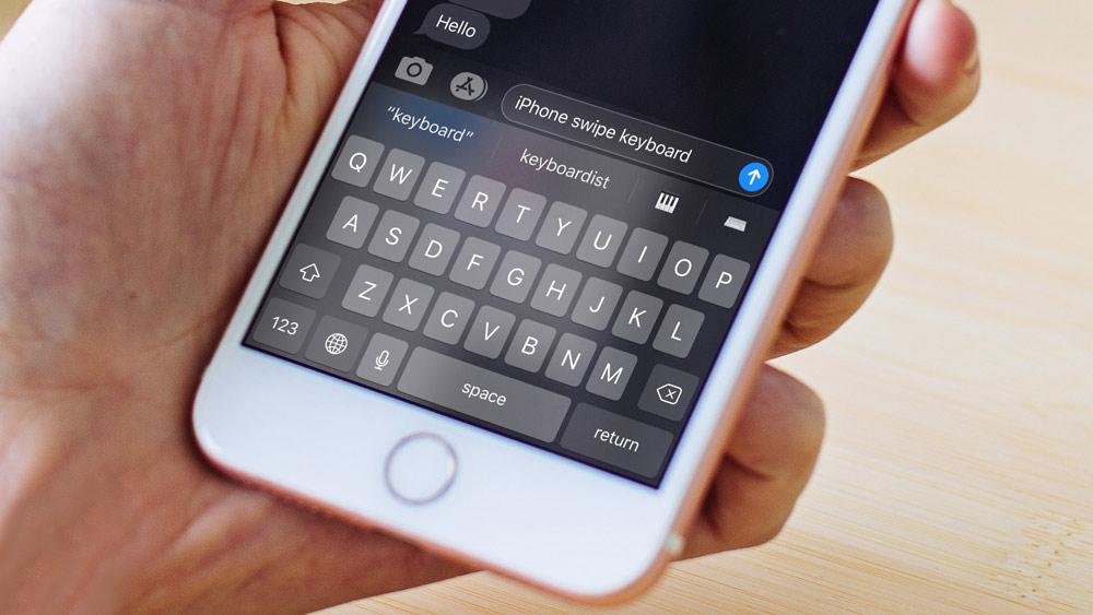 از ویژگی Swipe در هنگام تایپ کردن استفاده کنید