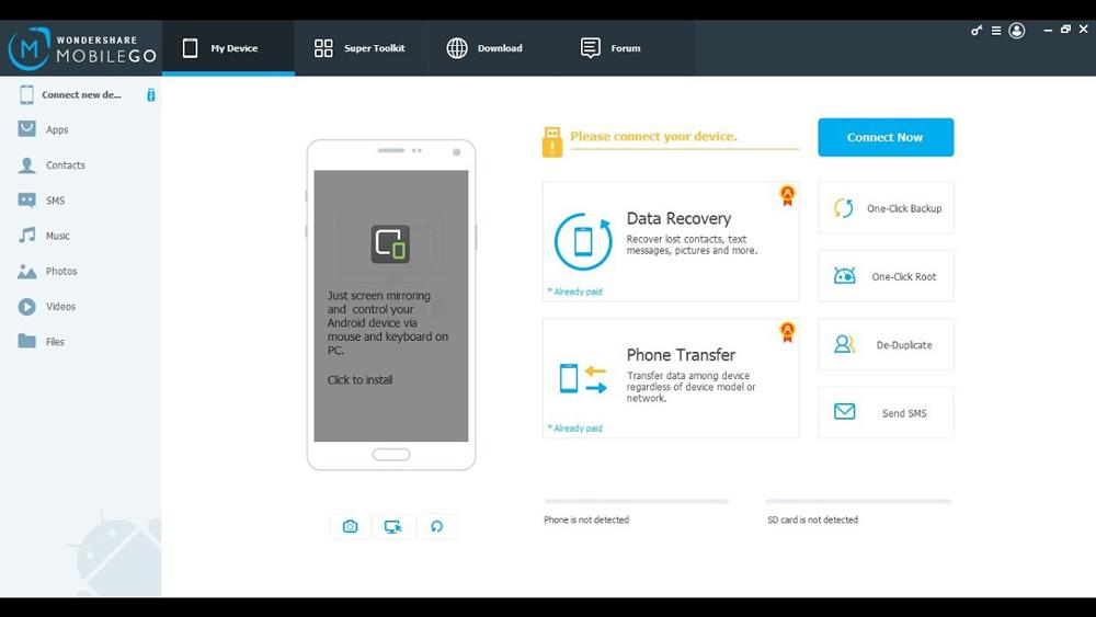 نرم افزار هایی مانند WonderShare MobileGo استفاده کنید
