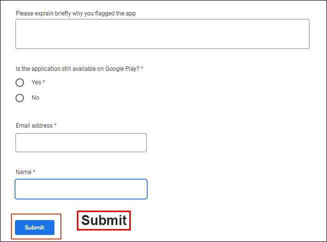 """برای پایان ، روی """"Submit"""" کلیک کنید."""