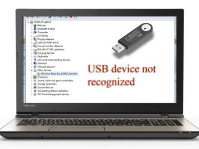 برطرف نمودن خطای usb device not recognized