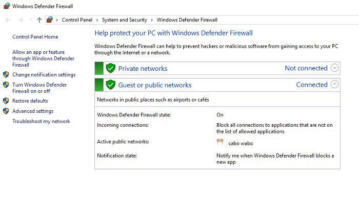 غیرفعال / راه اندازی مجدد آنتی ویروس شخص ثالث، فعال کردن فایروال ویندوز