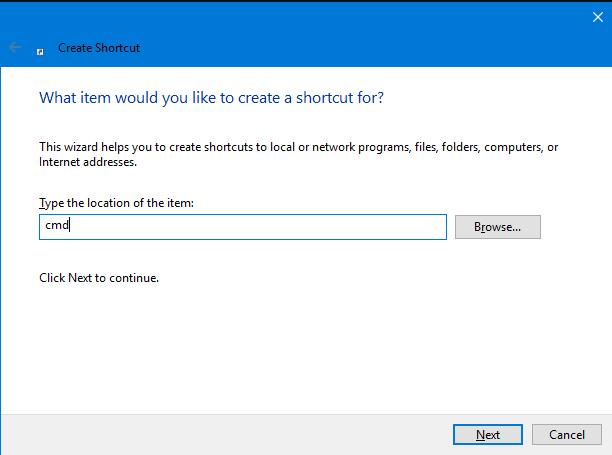 ایجاد میانبر Command Prompt در دسکتاپ (تمام نسخههای ویندوز)