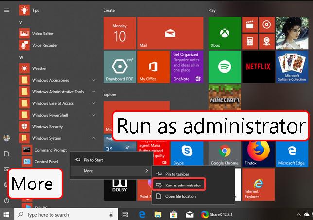 cmd بهصورت administrator اجرا کنید