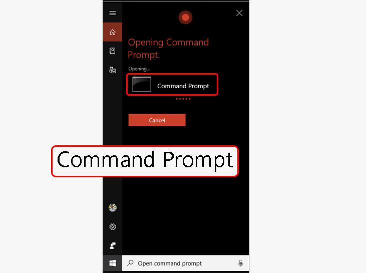روشهای دسترسی به محیط cmd با استفاده از Cortana (فقط ویندوز 10)
