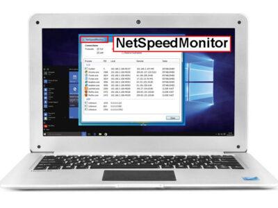 نمایش سرعت اینترنت در ویندوز با برنامه NetSpeedMonitor