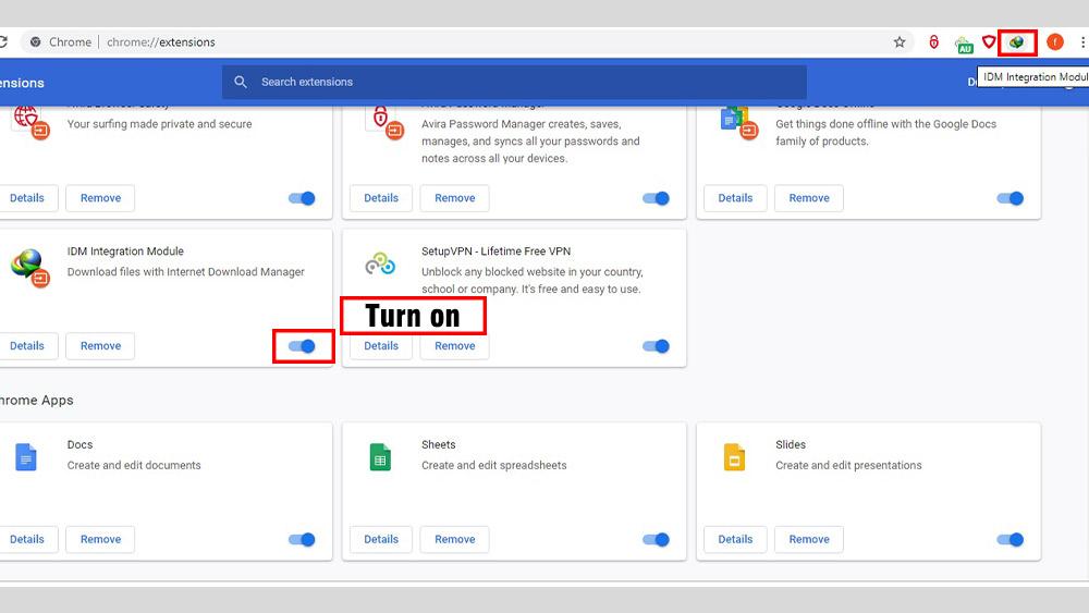 """در این مرحله پیامی با عنوان """" IDM Integration add-on or extension is ready to activate"""" برای شما ظاهر خواهد شد"""
