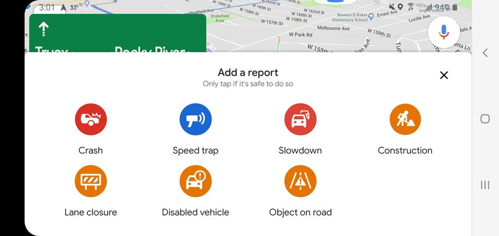 """در گوگل مپس قابلیت """"گزارش محل استقرار پلیس"""" وجود ندارد."""