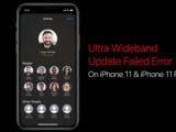 خطا Ultra Wideband Update Failed در بهروزرسانی گوشیهای آیفون 11
