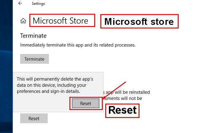 ریست تنظیمات پیشفرض آن، روی گزینه Reset کلیک کنید.