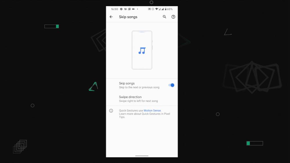 ویژگی اول Motion Sense : قابلیتSkips songs تغییر موسیقی
