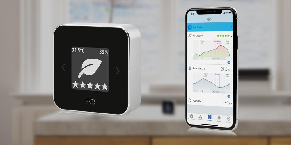 دستگاه هوشمند Eve Room 2 برای اندازهگیری کیفیت هوای خانه