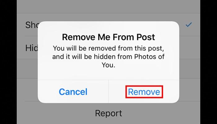 حذف تگ در عکس ها