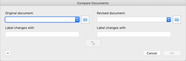 انتخاب دو فایل ورد برای مقایسه