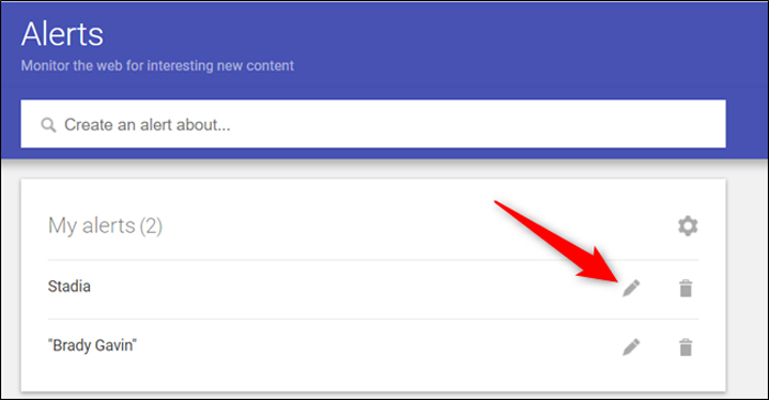 چگونه یک هشدار را در گوگل آلرت حذف یا ویرایش کنیم؟
