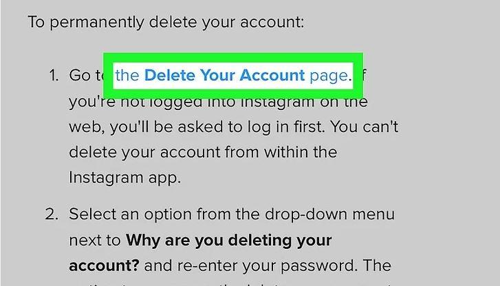 حذف دائمی حساب کاربری