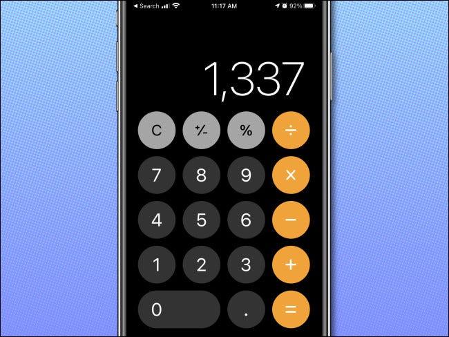 ماشین حساب مهندسی روی گوشی iPhone