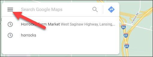 ذخیره مکان های محبوب روی google maps