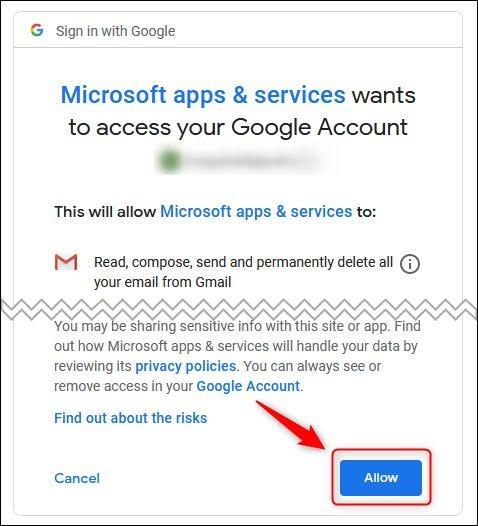 اکانت Gmail به Outlook Online