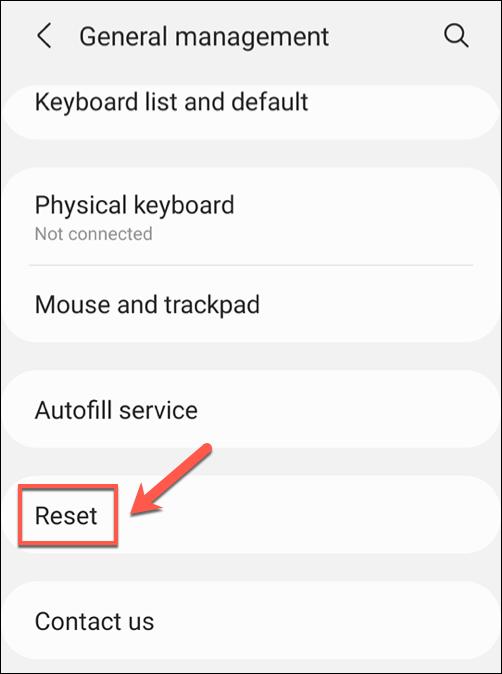 ریست کردن تنظیمات شبکه گوشی