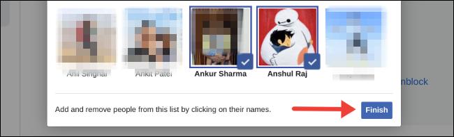 دسترسی دوستان در facebook
